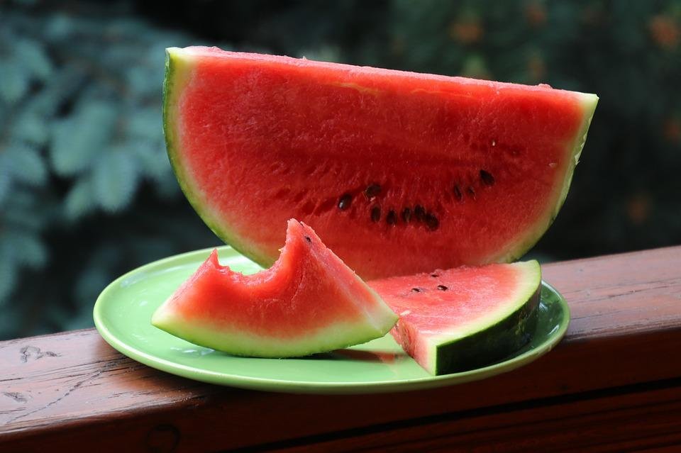 Watermelon, Sectioned, Gnawed, Dessert, Healthy Food
