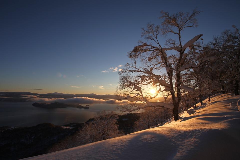 Sunrise, Snow, Mountain, Morning, Landscape, Sky