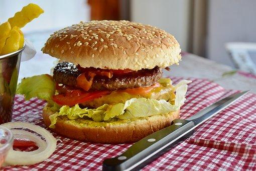 Burger, Hamburger, Bbq, Food, Fast Food