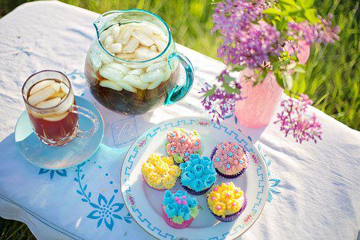 Iced Tea, Summer, Cupcakes, Refreshments