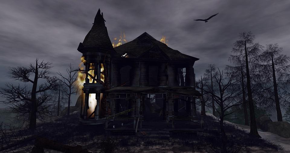 fantasy halloween creepy gloomy house darkness