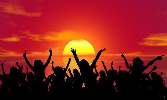Celebration, Party, Sunset, Summer, Fun