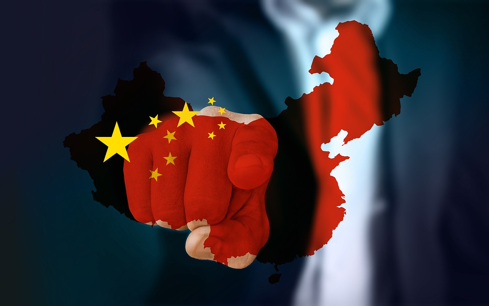 Businessman, China, Map, Hand, Touch, Finger, Contact