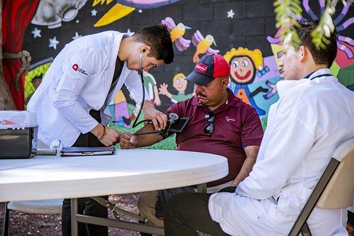 医療, ケア, 健康, ヘルスケア, 医学, 医師, 病院, 聴診器, 看護師