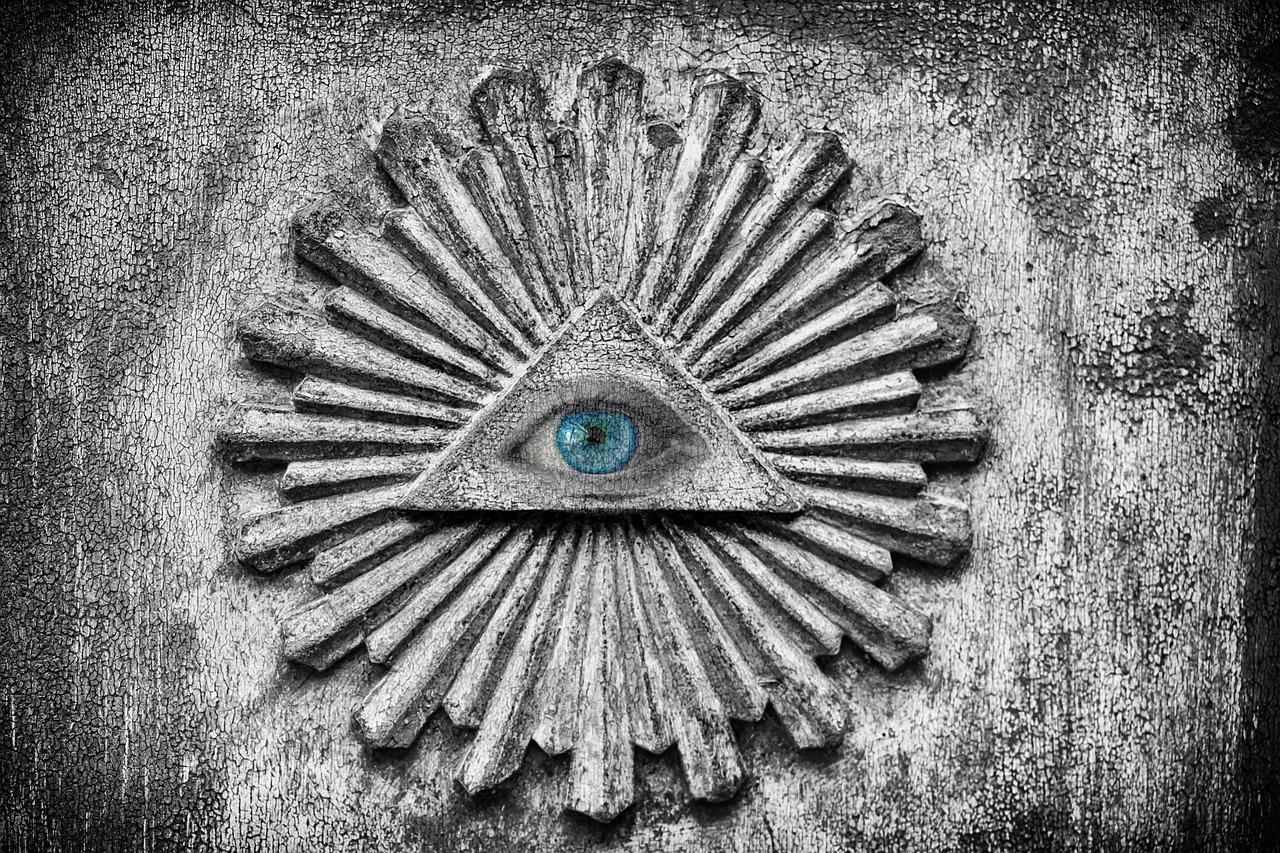 目, 悟りを得た, アイリス, 陰謀, シンボル, 奇妙な, 神秘的です, 秘密結社, 暗い, 神秘的な