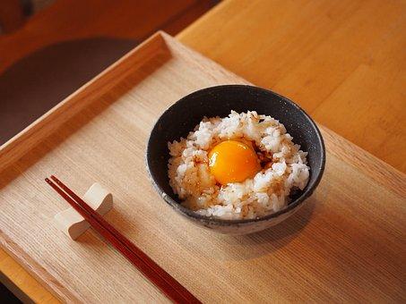 ご飯, 卵, 日本, 食べ物, 食事, 熊本, 有機栽培, 料理, 和食
