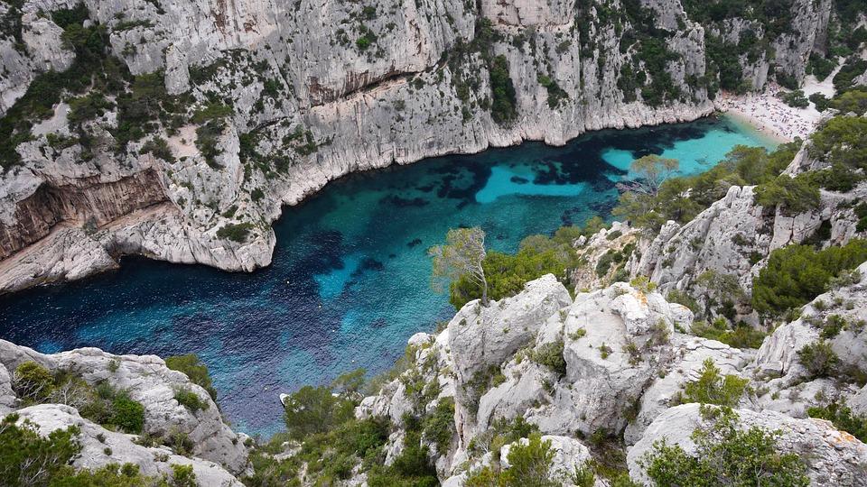 France, Calanque, L'Eau, Fjord, Rocher, Rock, Provence