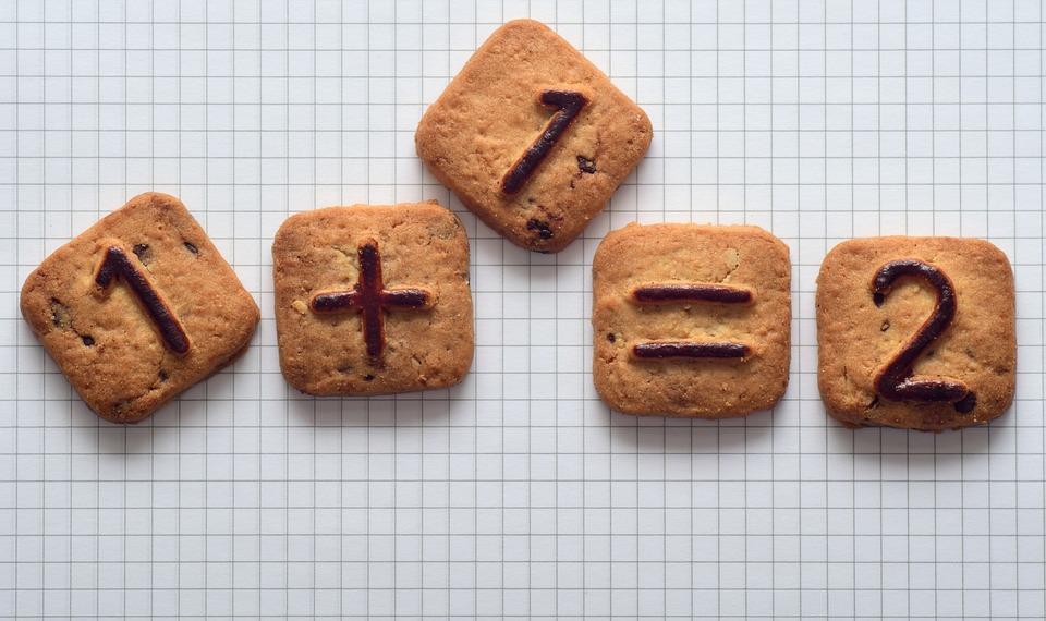 Zahlen, Kekse, Gebäck, Süß, Rechnen, Richtig, Ungenau