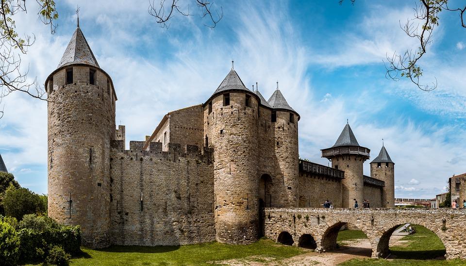 Carcassonne, Franciaország, Turizmus, Ősi, Utazás, City