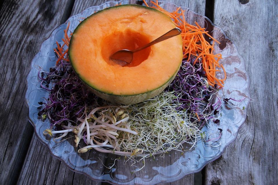 Melone, Cibo Sano, Una Dieta Sana, Delizioso, Fresco