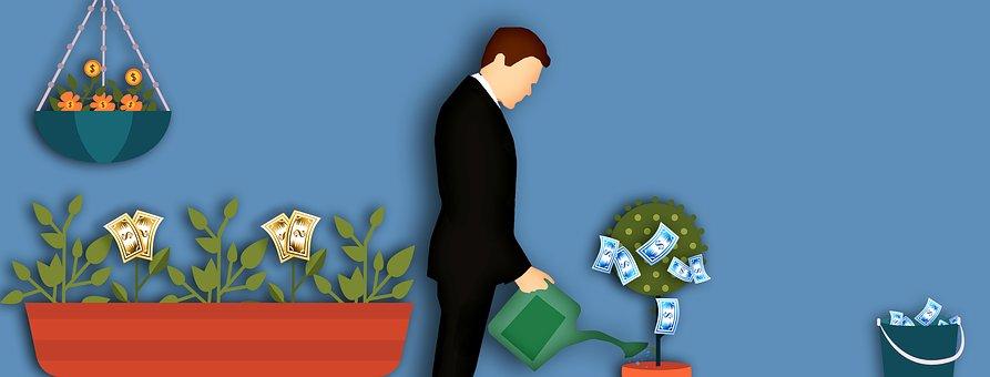 ビジネス, お金, 鋳造, 工場, 利益, バケツ, 通貨, 金融, 成長