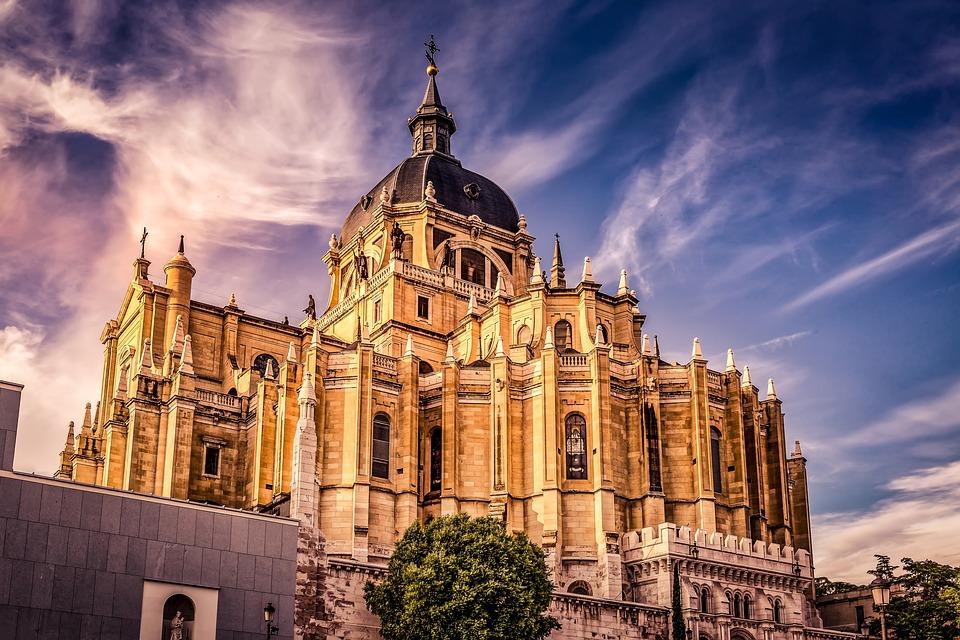 Cathedral, Almudena, Madrid, Spain, Architecture