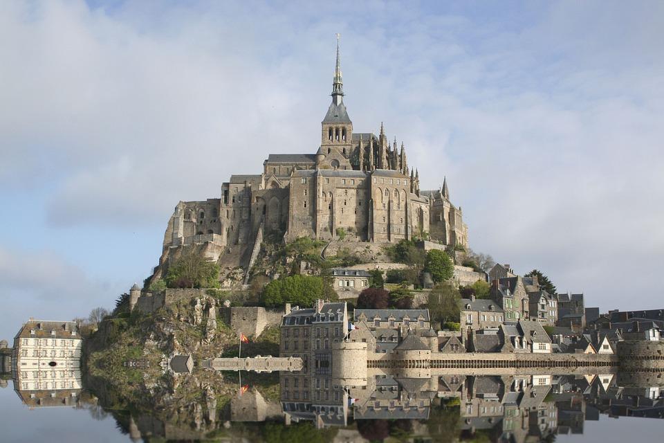 Alta Marea, Normandia, Francia, Mont Saint Michel