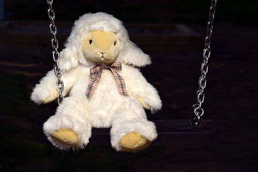 Soft Toy, White, Stuffed Animal, Cute