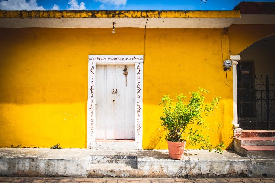 Izamal, Mexique, Yucatan, Jaune, Colonial, Ville