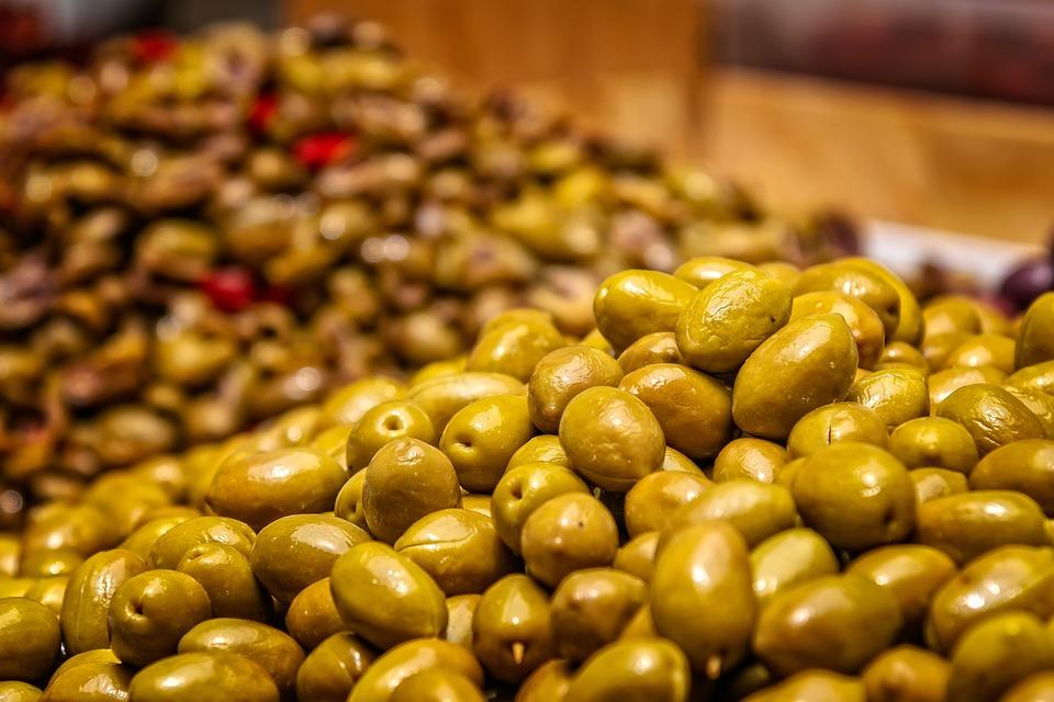 Fruits, Olives, Green, Mediterranean, Fresh Olives