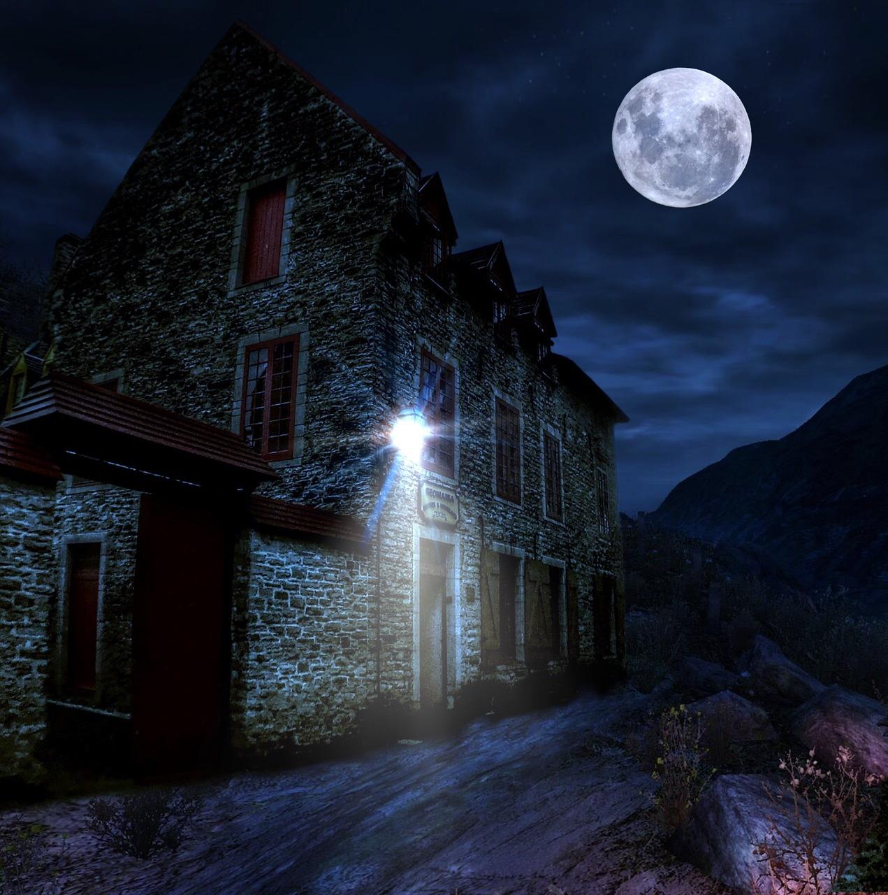 домики ночью картинки проблемой становится