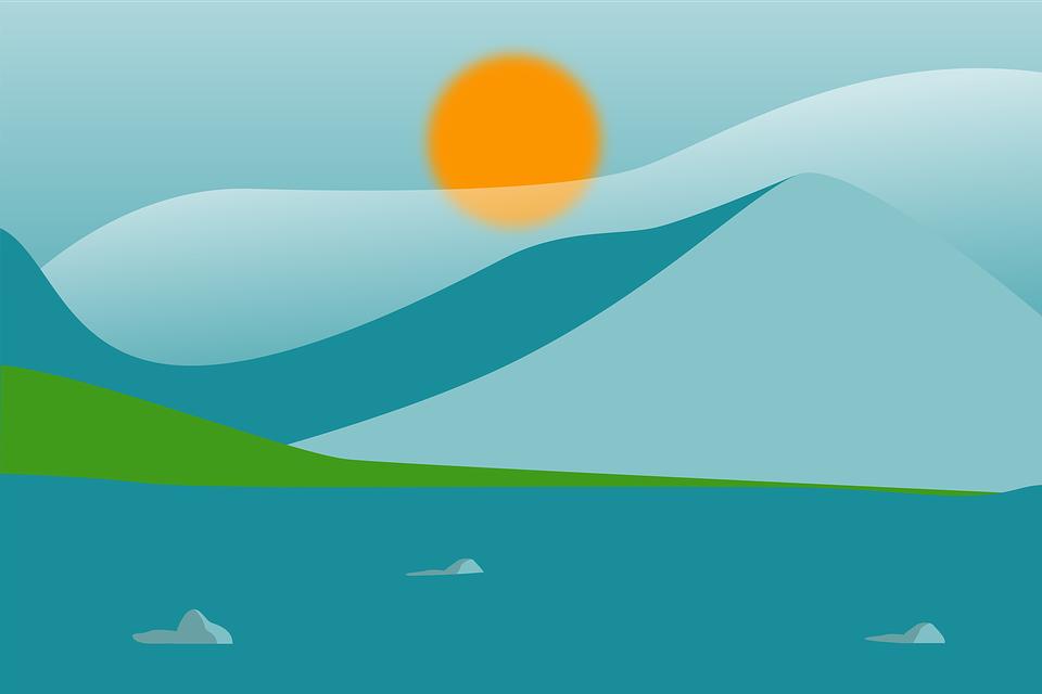 mountain sea sun rise free image on pixabay mountain sea sun rise free image on