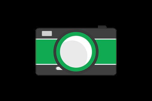Camera, Icon, Flat, Design, Symbol