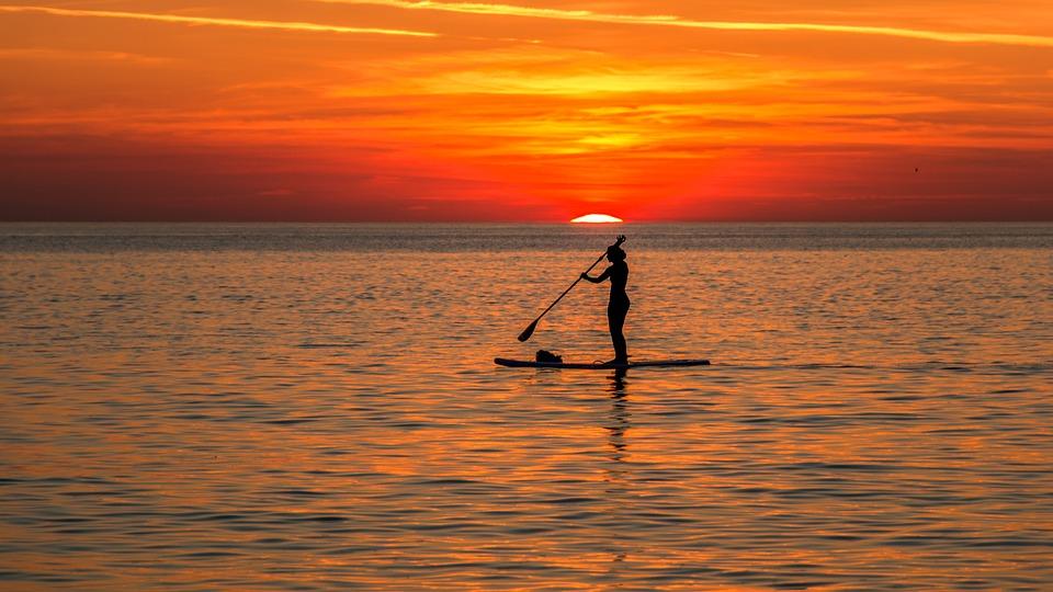 Strand, Sonnenuntergang, Meer, Farbenpracht, Abend