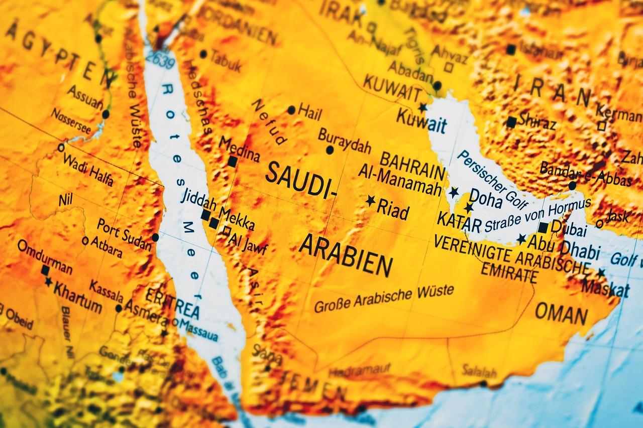 Kort Saudi Arabien Land Gratis Foto Pa Pixabay