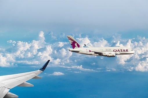 Qatar Airways, Clouds, Flying, Aircraft