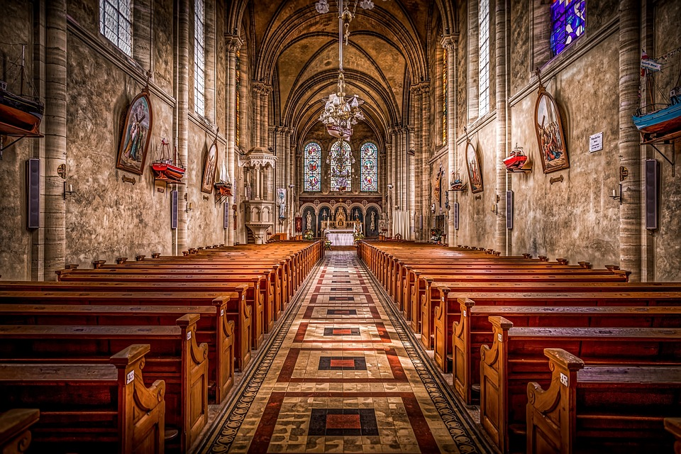 Church, Christianity, Cathedral, Interior, Benches