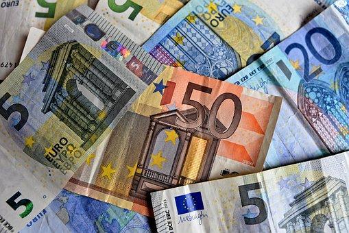 Money, Bank Notes, Euro Notes, Euro
