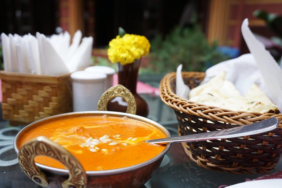インド料理, カレー, 料理, スパイス, アジア, 食事, 伝統的な, 鶏肉, レストラン, ハーブ, 食品