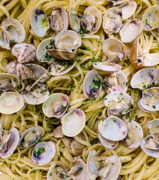 pasta med musslor