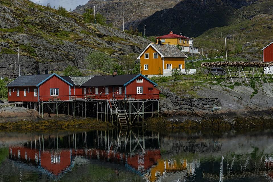 Norvegia, Lofoten, Norvegese, Acqua, Montagne