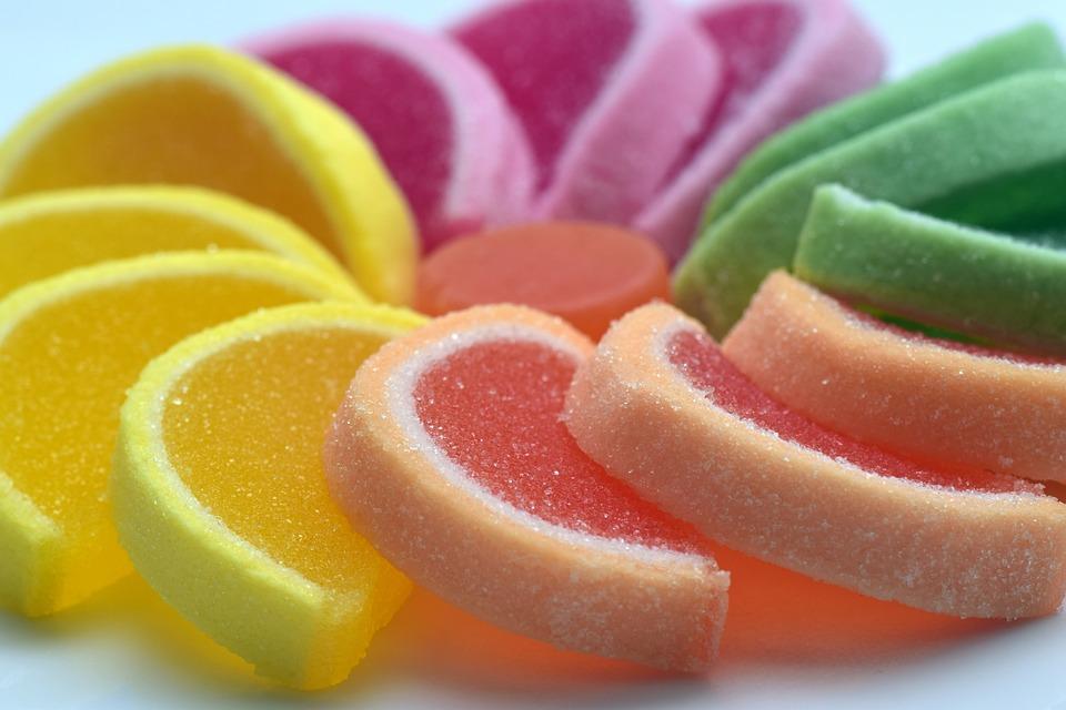 Di Zucchero, Dolce, Gelatina Di Frutta, Colorato
