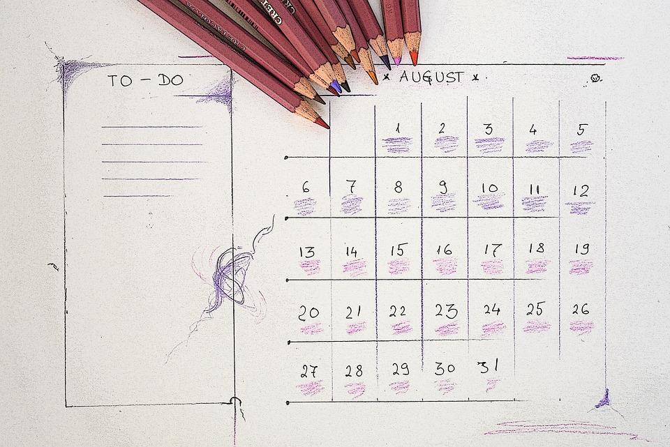Agosto Calendario.Agosto Calendario Pianificatore Foto Gratis Su Pixabay