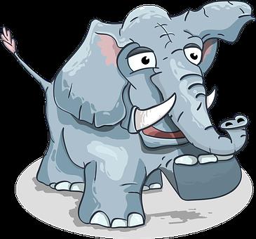 Download 930  Gambar Animasi Kartun Gajah HD Terbaru