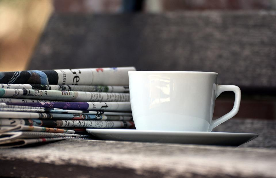 Cup, Newspapers, Magazines, Paper Stack, Press