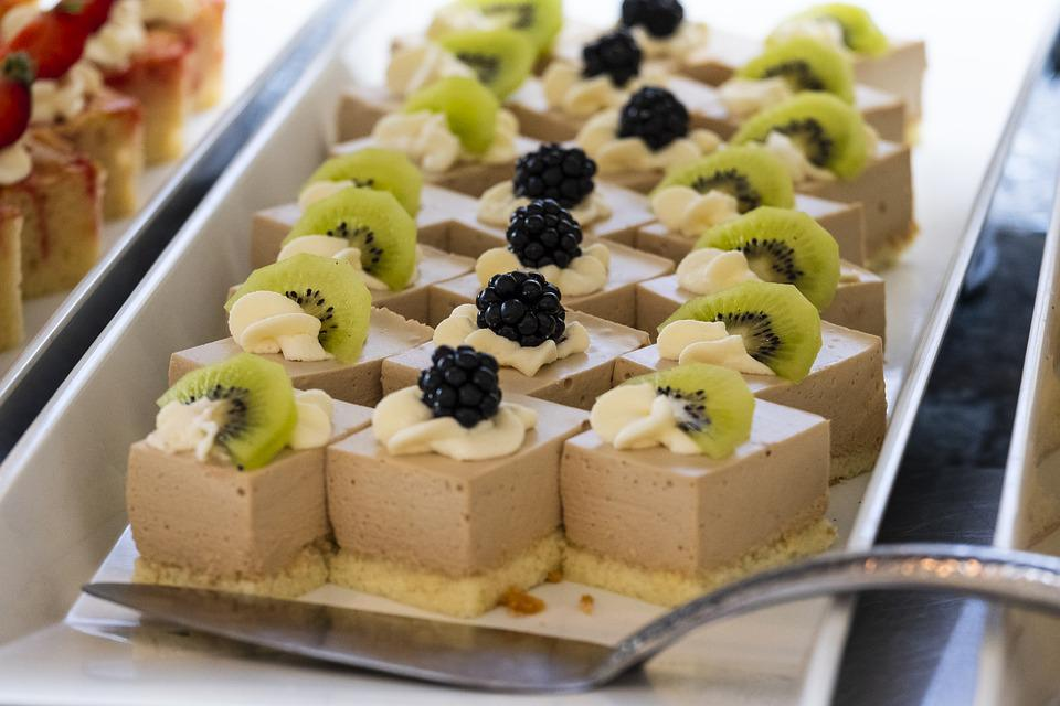 Dessert, Torta, Pezzi, Dolce, Frutta, Frutti Di Bosco