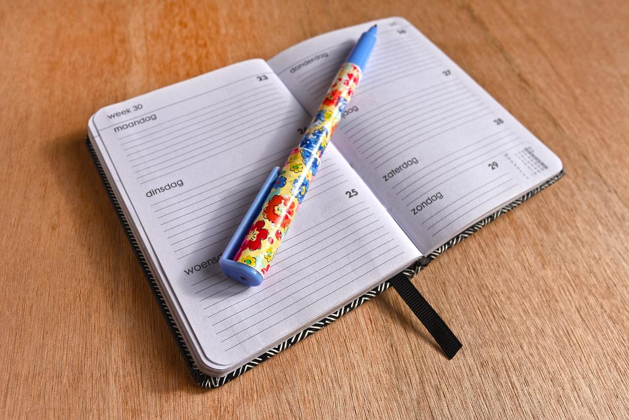 Agenda Note Book Schedule - Free photo on Pixabay