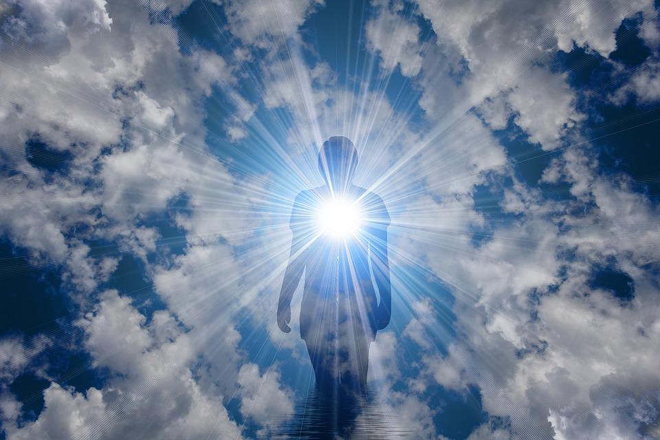 Религия, Медитация, Вера, Света, Облака, Женщина