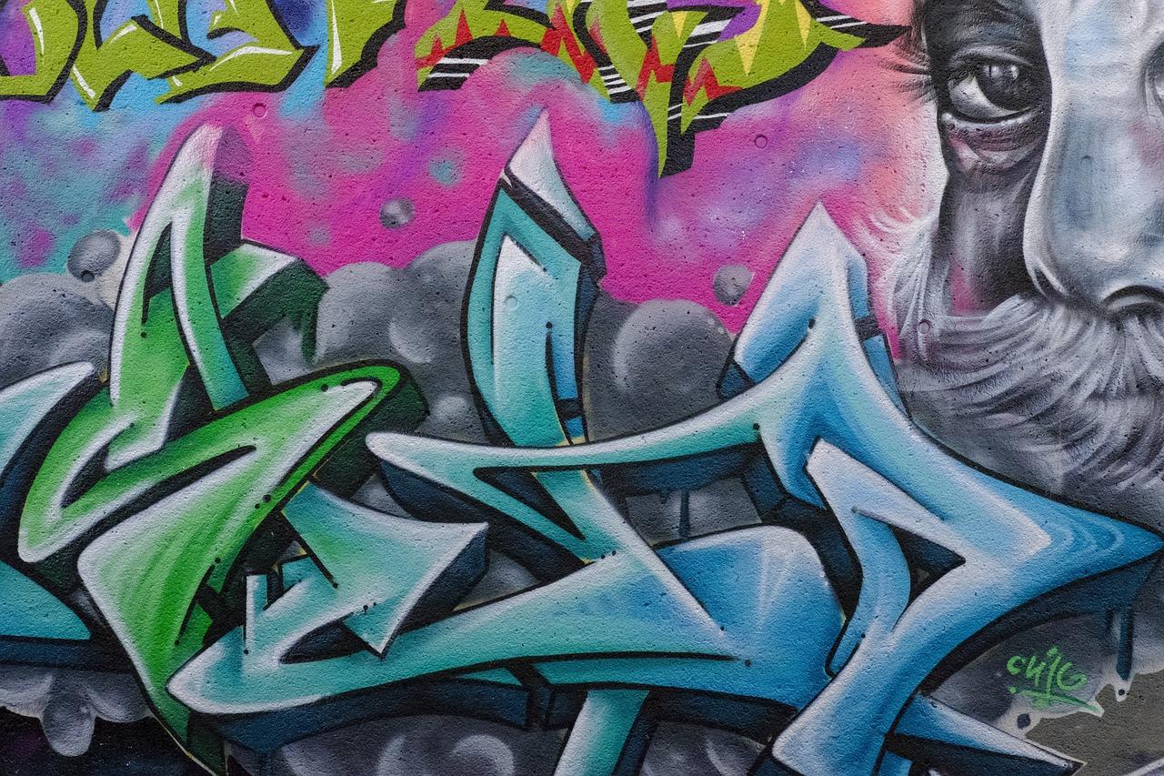 граффити в картинках цвет место