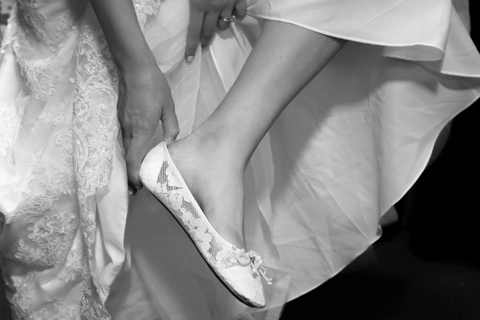 3cec8de4 Bryllup, Sko, Bruden, Kjole, Kvinde, Hvid, Mode