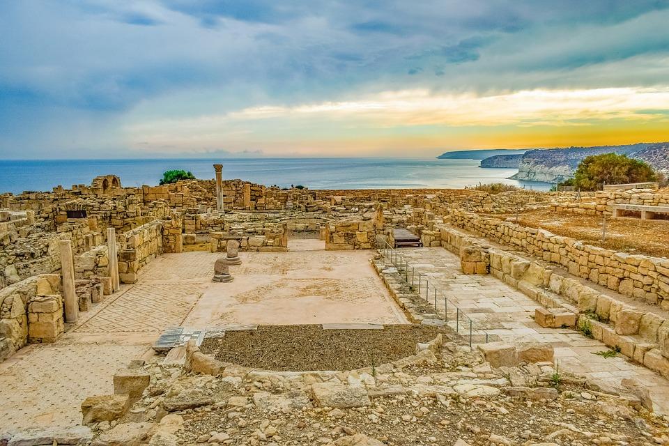 Cyprus, Kourion, Landscape, Sky, Clouds, Horizon