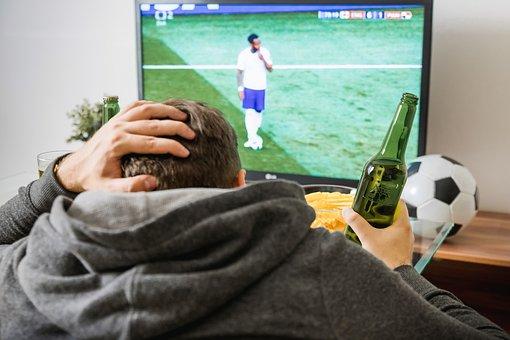 Soccer, Football, Tv, Watching, Home