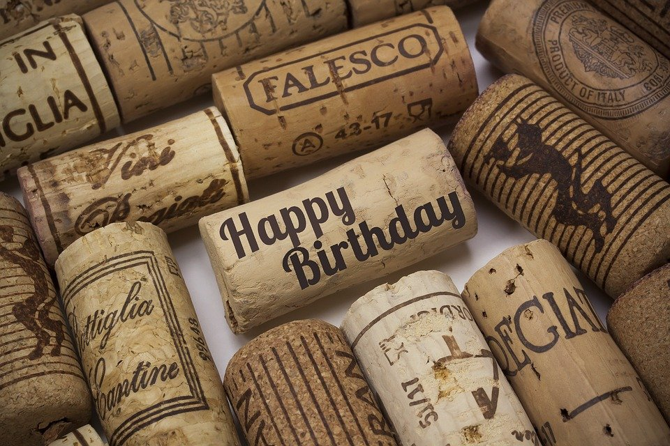 Birthday Greeting Wine Corks Celebration