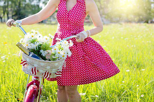 Image result for lady in a spring dress clipart