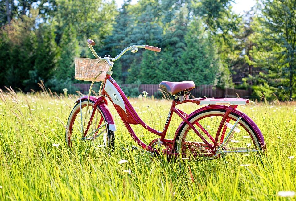 Vélo Rouge, Bicyclette Vintage, Vélo, Vintage, Rétro
