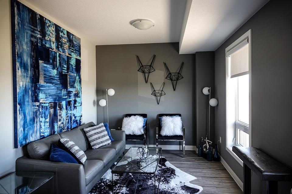 Wohnzimmer Blau Blaue Malerei · Kostenloses Foto auf Pixabay