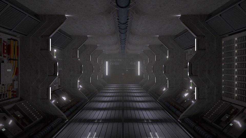 Sci-Fi, 宇宙船, 近未来的な, 将来, 技術, 3 D