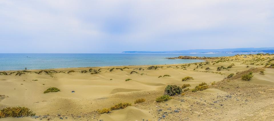 Dunes, Sand, Sky, Clouds, Sea, Nature, Landscape