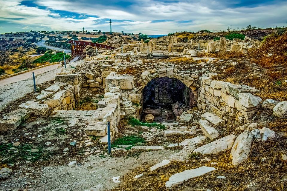 Cyprus, Kourion, Landscape, Sky, Clouds, Ancient, Site
