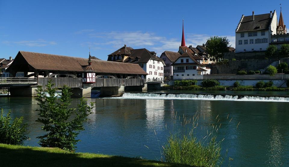 風景 スイス アールガウ州 ブレ...